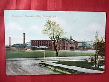 Antique POSTCARD c1908 Postmarked, Sessions Foundry Building, BRISTOL, CT.