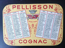 Ancien mini calendrier de poche Cognac Pellisson 1955 TTBE
