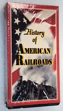 HISTORY OF AMERICAN RAILROADS 1800-1916 VHS KAW Valley Films & Video 1995 OOP
