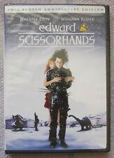 Edward Scissorhands DVD Anniversary *NEW* Johnny Depp; Tim Burton; Winona Ryder