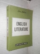 ENGLISH LITERATURE Piero Rebora Edizioni Scolastiche Mondadori 1960 linguistica