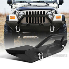 1987-2006 Jeep Wrangler YJ TJ Black Texture Bumper Guard w/ Winch Plate+ D-rings