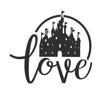 PREMADE-SCRAPBOOK-PAPER PIECING-FOR LAYOUT-ALBUM-MICKEY-DISNEY-CASTLE-LOVE
