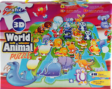 Grafix Amimals Of The World 3D Childrens 18 Piece Jigsaw Puzzle