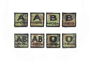 Patch Gruppo Sanguigno in Stoffa Vegetato Esercito Italiano Blood Type a strappo