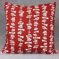 Handmade KITA POPPY RED 100% Cotton Cushion Cover.Various sizes
