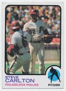 1973 TOPPS BASEBALL STEVE CARLTON PHILADELPHIA PHILLIES CARD # 300 BV $10.00