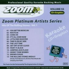 Zoom Karaoke Platinum Artists Series Vol. 55 CD+G - Hits of The Rolling Stones