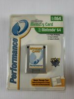Performance Memory Card & Case for Nintendo 64 System N64 Console 123 Save Pages