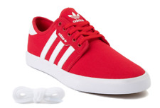 Mens Adidas Seeley Athletic Casual Comfy Classic Baskettball Skate Shoe Red New.