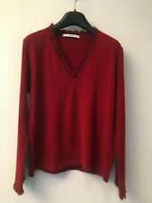 NATAN,  red pull in wool merinos (85%), size 2