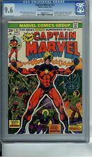 CAPTAIN MARVEL #32 CGC 9.6 ORIGIN OF DRAX IRON MAN THANOS STARFOX MOONDRAGON