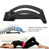 Chiropractic Pain Relieving Back Support Stretcher Posture Corrector Massage JS