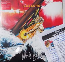 ERASURE LP World Beyond RED VINYL Ltd + PROMO Sheet+ Downloads SEALED IN STOCK !