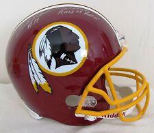 Billy Kilmer Signed Washington Redskins Full Size Helmet w 2 Inscriptions FS F/S