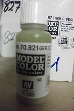 MODEL HOBBY PAINT 17ml BOTTLE  VAL821  AV Vallejo Model Color - German Cam Beige
