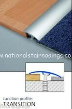 Aluminium Silver Threshold Strips Door Bars Transition  Laminate To Carpet Tiles