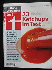 Stiftung Warentest 06/2008 - 23 Ketchups im Test