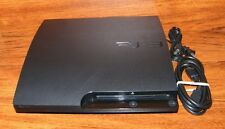 Sony PlayStation 3 Slim Charcoal Black 160GB NTSC Console Game System CECH-3001A