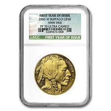 2006-W 1 oz Proof Gold Buffalo Coin - Inaugural Issue - PF-70 NGC - SKU #18608