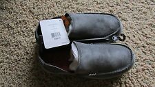 NEW CROCS SANTA CRUZ GRAY SHOES MENS 7 LOAFERS SLIP ONS GRAY SUEDE