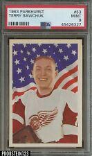 1963 Parkhurst Hockey #53 Terry Sawchuk Red Wings HOF PSA 9 SHARP CORNERS