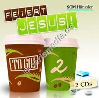 DCD: FEIERT JESUS! TO GO! Vol. 2 - *NEU* - 2 CDs! - dt. Lobpreis - Worship °CM°