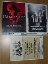 Brian Fallon - Scottish tour Glasgow concert show gig posters x 3