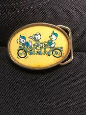 Vintage Walt Disney Kids Belt Buckle by Baron Buckles Huey, Dewey and Louie