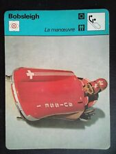 FICHE EDITIONS RENCONTRE S.A LAUSANNE 1978 BOBSLEIGH LA MANOEUVRE