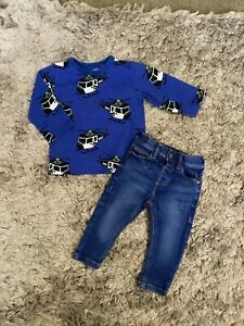 NEXT BABY BOYS 6-9 MONTHS OUTFIT, JEANS TOP BUNDLE 💙COMBINED POST