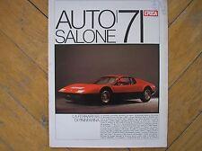 SALONE AUTO 71 SPECIALE EPOCA 1971 FERRARI BB PININFARINA ALFA ROMEO CAIMANO