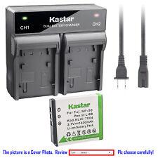 Kastar Battery Rapid Charger for Fujifilm NP-50 BC50 Fuji FinePix F550EXR Camera