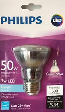 "Philips 7-Watt ""Classic Glass"" Par20 Dimmable Daylight Led Flood Light - 5000K"