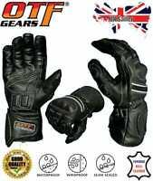 Leather Motorbike Motorcycle Gloves Waterproof Windproof Thermal-Summer Offer