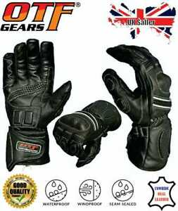 Leather Motorbike Motorcycle Gloves Waterproof Windproof Thermal-New Year Offer