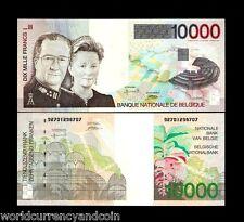 BELGIUM 10000 FRANCS 152 1997 KING UNC ALBERT QUEEN PAOLA GREEN EURO RARE NOTE