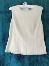 Marcs BNWOT cream lace lined sleeveless blouse size M back long zip