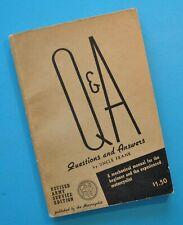1920-45 Harley ULH EL JDH FL XA Indian Chief Scout Motorcycle Manual Data Book
