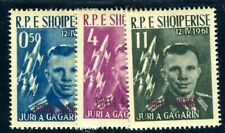 ALBANIEN 1962 647-649aDD ** POSTFRISCH TADELLOS SATZ DOPPELTER AUFDRUCK (I2570