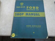 Ford Passenger Car Used Shop Manual VP 1949 1950 1951 VP-CM369