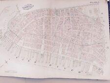 1885 MANHATTAN ROBINSON COPY ATLAS MAP LOWER MANHATTAN CITY HALL BATTERY PARK