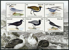 Palau 2018 MNH Seabirds Terns Plovers Petrels 6v M/S II Waders Birds Stamps