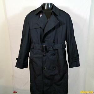 US Army Class-A Black Trench Coat - men's & women's
