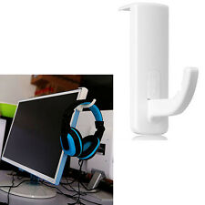White Mini Headphone Headset Hanger Holder Wall PC Monitor Stand for Sony AKG