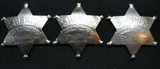 (3pcs.) STORYTOWN USA, GHOST TOWN Lake George N.Y. (3) SHERIFF BADGE