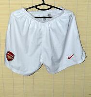 ARSENAL LONDON 2004/2005 HOME FOOTBALL SHORTS JERSEY NIKE SIZE S ADULT