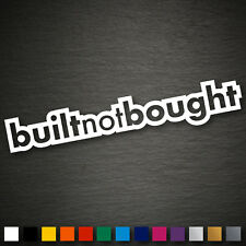 13043 Built not Bought 35x200mm JDM DUB FUN Rat Tuning Auto Sticker Aufkleber