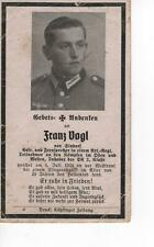orig. STERBEBILD - DEATH CARD - Fliegerangriff - Normandie - Juli 1944
