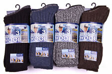 6 Pairs MENS CHUNKY WINTER WARM OUTDOOR THERMAL WOOL BLEND HIKE BOOT SOCKS 6-11